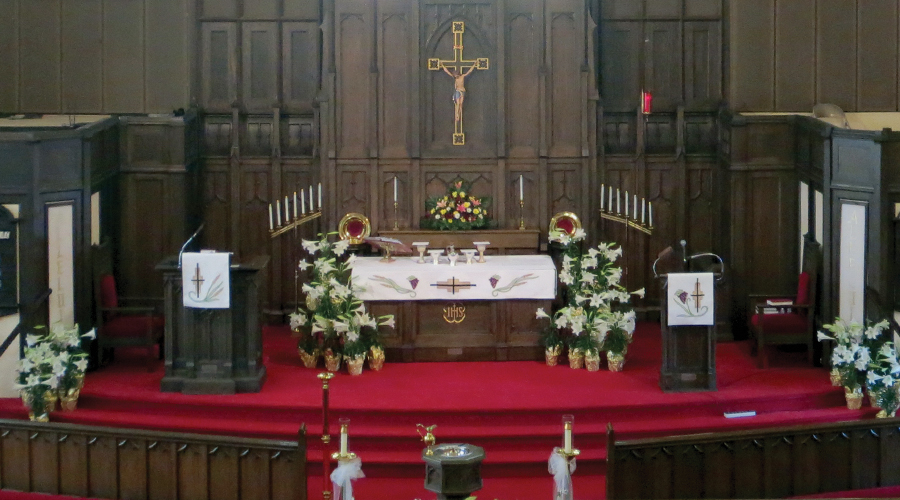St. John's Lutheran Church altar