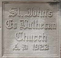 St. John's Lutheran Church cornerstone